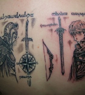 Cool lord of the rings tattoo
