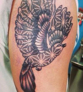 Cool mockingbird tattoo design