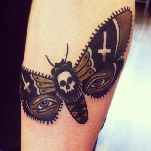 Cool moth tattoo by Matt Cooley