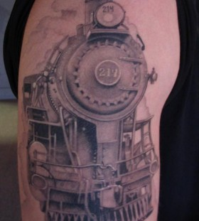 Cool old train tattoo