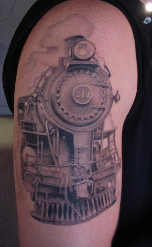 Cool old train tattoo