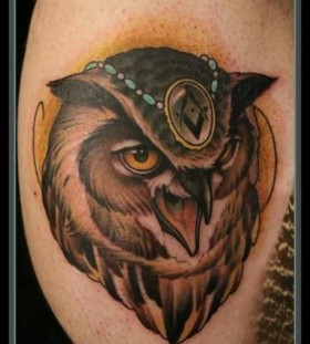 Cool owl tattoo design