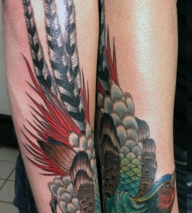 Cool pheasant tattoo
