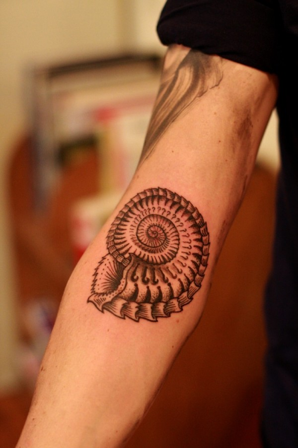 Cool shell arm tattoo