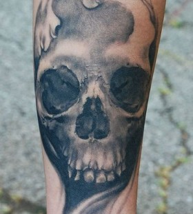 Cool skull tattoo by David Allen