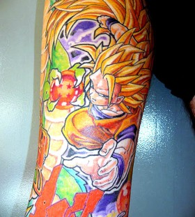 Cool super saiyan goku tattoo