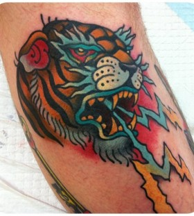 Cool tiger tattoo by W. T. Norbert