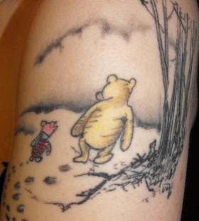 Cool winnie the pooh theme tattoo