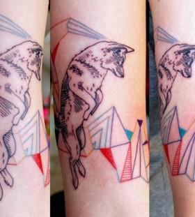 Cool wolf tattoo design