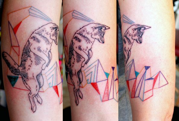 Cool wolf tattoo design
