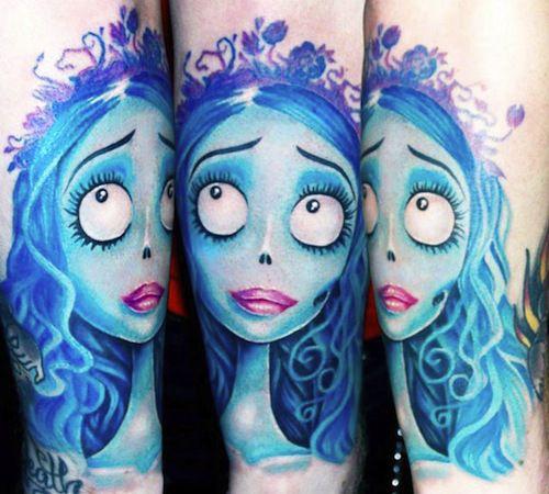 Corpse bride tattoo by Ellen Westholm