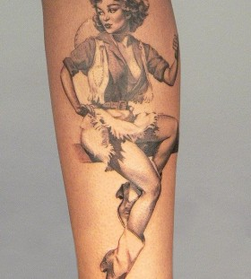 Cowgirl tattoo by Xavier Garcia Boix