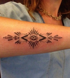 Crazy looking egyptian eye tattoo