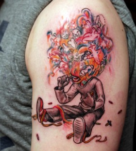 Creative James Jean tattoo