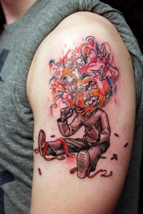 Creative James Jean tattoo