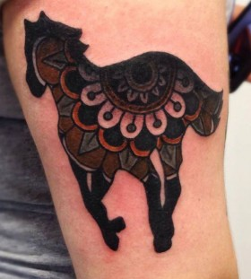 Creative horse tattoo by Matt Cooley