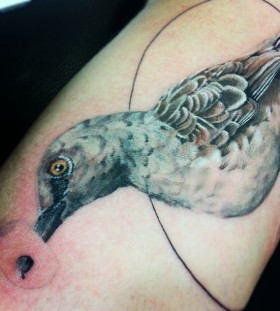 Creative mockingbird tattoo
