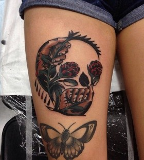 Creative skull tattoo by James McKenna