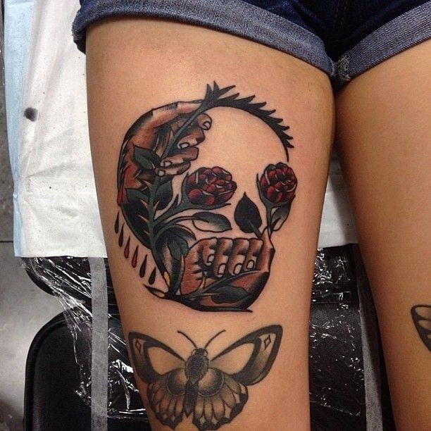 Creative skull tattoo by James McKenna