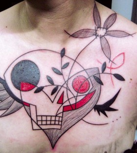 Creative skull tattoo by Yann Black