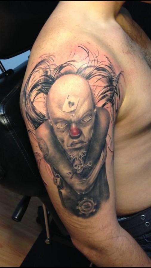 Creepy tattoo by Razvan Popescu