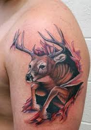 Custom deer tattoo design