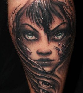 Cute girl tattoo by Riccardo Cassese