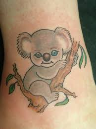 Cute koala bear tattoo
