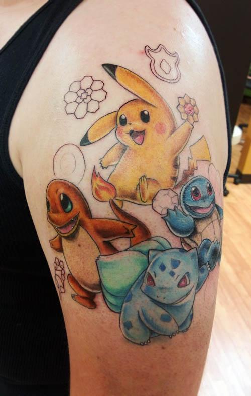 Cute pokemon arm tattoo