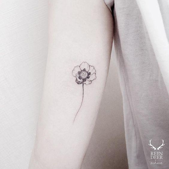 cute poppy tattoo