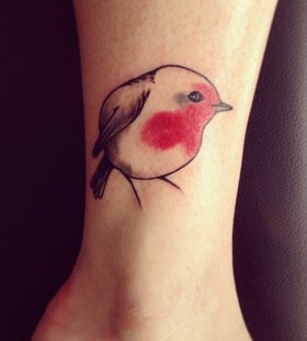 Cute small bird tattoo