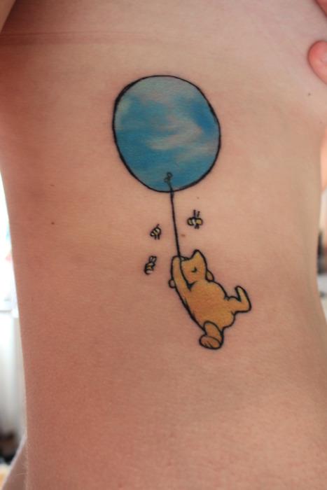 Cute winnie the pooh tattoo
