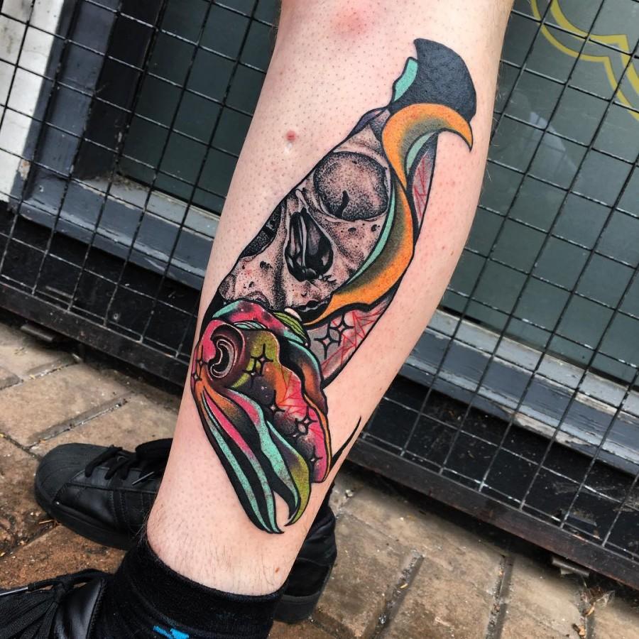 cuttlefish tattoo by littleandytattoo
