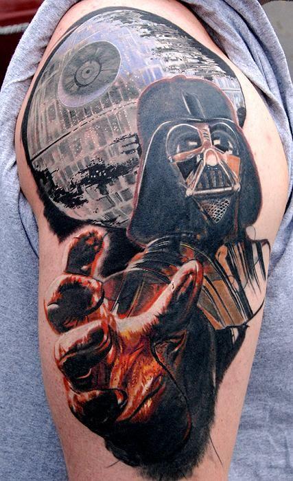 Darth Vader tattoo by Phil Garcia