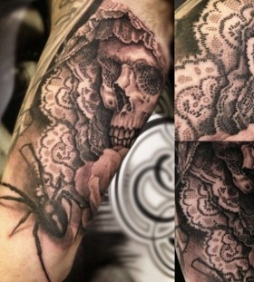 Detail santa muerte tattoo