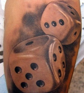 Dice tattoo by Xavier Garcia Boix