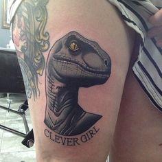 Dinozour tattoo by Dan Molloy