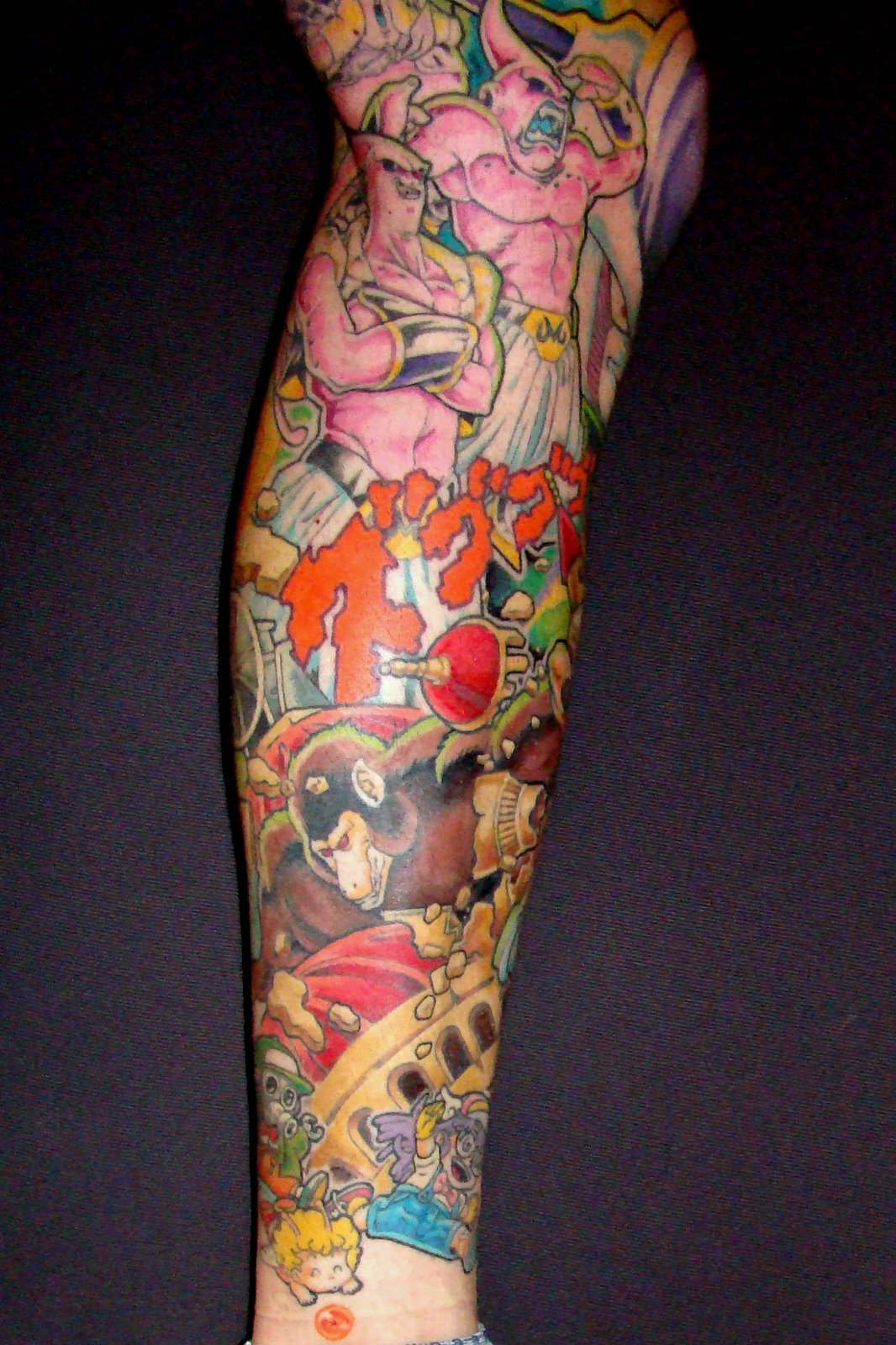 Dragon Ball Theme Leg Tattoo -