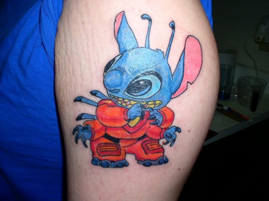 Dressed up Stitch tattoo
