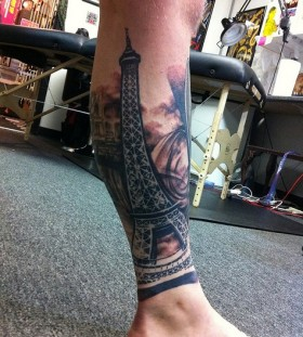 Eiffel tower tattoo by David Allen