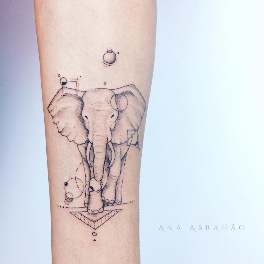 elephant tattoo by abrahaoana