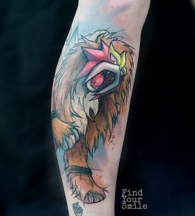 entei-pokemon-watercolor-tattoo