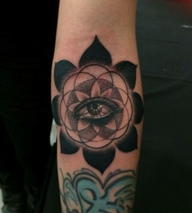 Eye tattoo by Jon Mesa