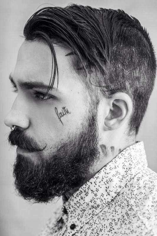 Faith face tattoo