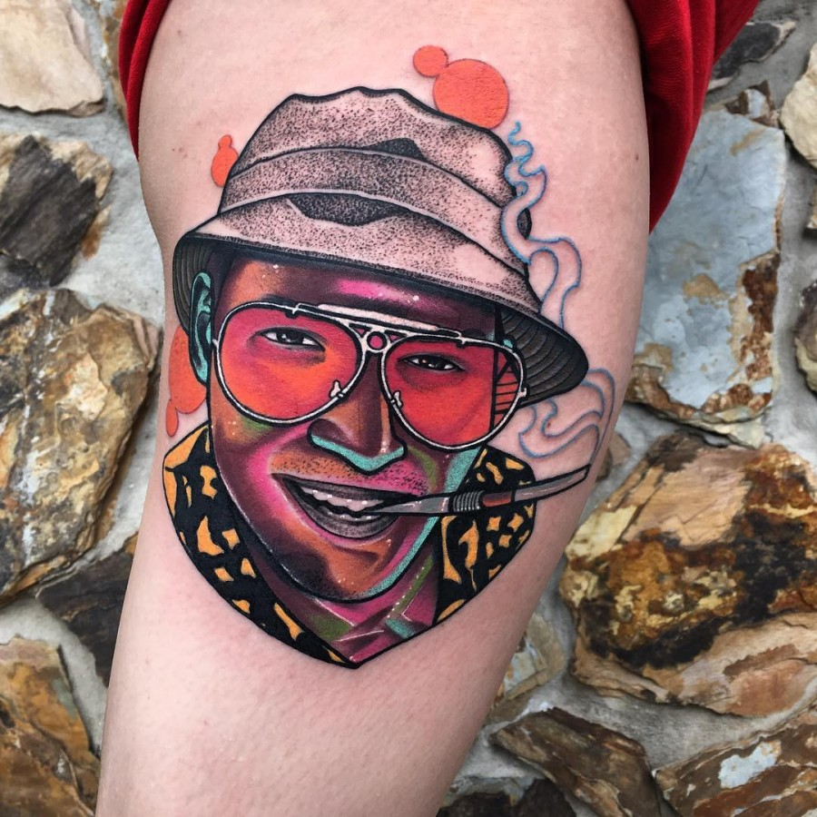 fear and loathing tattoo by littleandytattoo