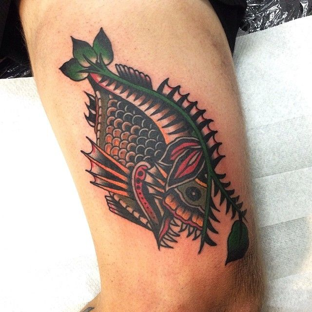 Fish tattoo by James McKenna