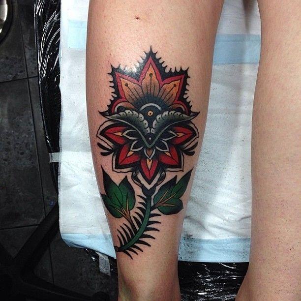 Flower tattoo by James McKenna