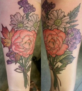 Flowers tattoo by Alice Kendall
