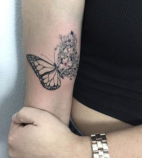 flowery-wing-butterfly-tattoo-by-adamexiste