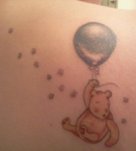 Flying winnie the pooh tattoo